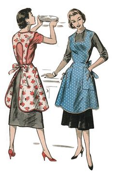this is an example of the new backing for sycamoore's aprons! Vintage Full Apron 50's
