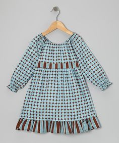 Blue Dots Pattycake Dress - Toddler & Girls | Daily deals for moms, babies and kids