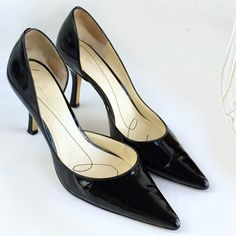 Anne Klein Patent Leather D'orsay Pumps AK Anne Klein patent leather D'orsay pumps! These pumps are perfect for the office! Excellent condition just has scuffs on the sole. Gently used. Slip-on. Leather upper. Style makrystellem. Size 8 m. Hand washed with organic shoe cleaner. Anne Klein Shoes Heels
