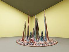 Wave plastic, woolen handmade carpet, 200smX250sm, 2012