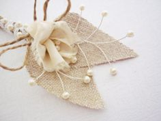 Vőlegény gallértű, kitűző, boutonniere, rusztikus esküvő - fekete, arany, fehér, Férfiaknak, Esküvő, Vőlegény gallértű, kitűző, boutonniere, #meska