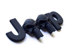 Punisher Skulls OEM Font by on Shapeways Jeep Suv, Jeep Truck, Jeep Decals, Jeep Grill, 3d Printer Designs, Military Looks, Punisher Skull, Custom Jeep, Set Cookie