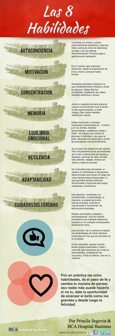 Las 8 #Habilidades :-) ¡para vivir bien!