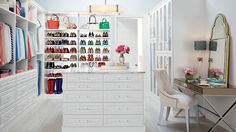 White Cabinetry - Shoe Storage - Closet Ideas - Container Store - Home Organization