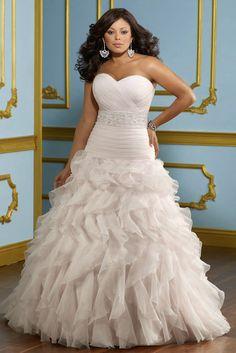 Sweetheart Ruching Ruffled Shirring Princess Wedding Dress Plus Size Online