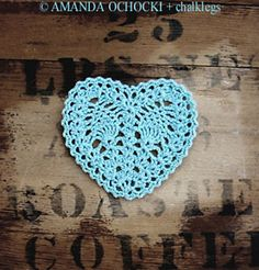 Pineapple heart - Love hearts and love the pineapple stitch - two of my faves in one motif!