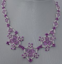 Purple Triplet Necklace Pattern
