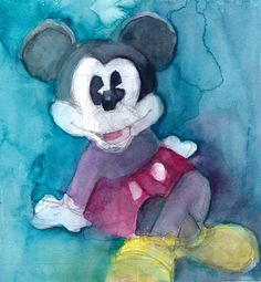 Disney Fine Art Print  Mickey Mouse size 11 x 11 by dfrdesign, $30.00