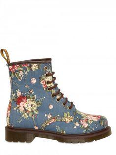 floral print boots Dr Martins