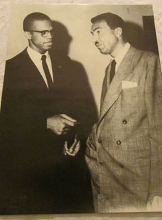 Malcolm X and Adam Clayton Powell 1960s Poster Print 22 x 17