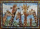 giraffe quilts | Giraffe Family
