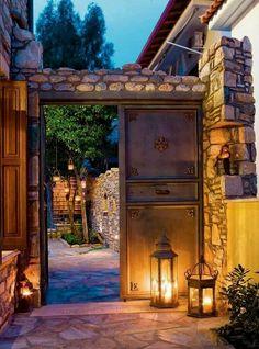 Lantern Entry, Greece photo via skeeter
