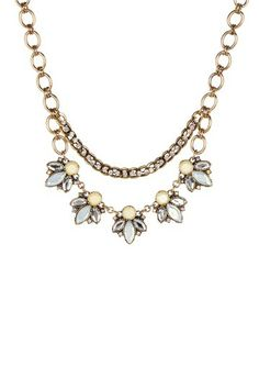 White Floral Stone Drop Necklace by Sparkling Sage on @HauteLook