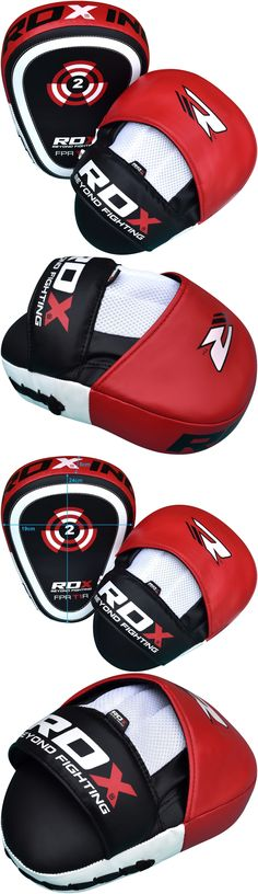 Strike Pads and Mitts 179789: Auth Rdx Focus Pads And Mitts Hook And Jab Mma Punch Bag Kick Boxing Muay Thai Red BUY IT NOW ONLY: $32.49