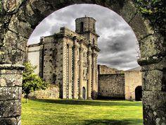Monasterio de Santa María de Monfero, Galicia, Spain Santa Maria, Through The Window, Iglesias, Terra, Places To Go, Things To Do, Spanish, Aqua, Passport