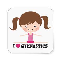 Pegatinas «I love gymnastics cute cartoon girl with dark skin and black hair Gymnastics Logo, Gymnastics Suits, Gymnastics Birthday, Gymnastics Videos, Cartoon Stickers, Cute Stickers, Black Gymnast, First Communion Cards, Girls With Black Hair