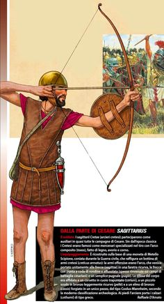 The archer of the army of Caesar in the battle of Munda Ancient Rome, Ancient History, Armenian Military, Imperial Units, Old Warrior, Roman Legion, Roman Sculpture, Roman Soldiers, Military Operations
