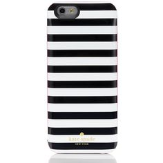 Kate Spade Micro Stripe Iphone 6 Charging Case ($100) ❤ liked on Polyvore featuring accessories, tech accessories and kate spade