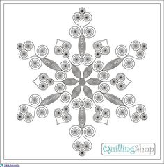 Billedresultat for quilling skabeloner gratis Arte Quilling, Paper Quilling Cards, Quilled Paper Art, Paper Quilling Designs, Quilling Craft, Paper Quilling For Beginners, Quilling Videos, Quilling Techniques, Snowflake Template