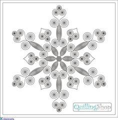 Billedresultat for quilling skabeloner gratis Arte Quilling, Paper Quilling Cards, Quilled Paper Art, Paper Quilling Designs, Quilling Craft, Kirigami, Paper Quilling For Beginners, Quilling Techniques, Snowflake Template