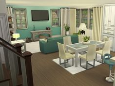 The Sims Resource: Blue Ridge Family House by smubuh Sims 4 House Plans, Sims 4 House Building, Sims 4 Family, Muebles Sims 4 Cc, Sims 4 House Design, Casas The Sims 4, Home Design Plans, House Layouts, Interior Design