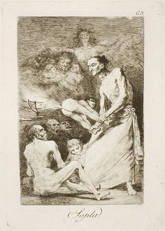Francisco de Goya - Gust the wind (Etching and Aquatint, 1797-99)