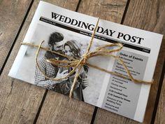 Newspaper Wedding Programs Printed  Fun program idea for