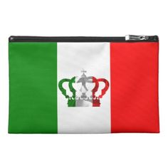 Shop Vintage Crown Modern Italy Italian Flag Travel Accessory Bag created by ItalianDesignMylini. Flag Design, Travel Accessories, Gifts For Kids, Baby Kids, Tattoo Ideas, Babe, Girly, Crown, Stylish
