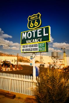Route 66 sign - Barstow, CA.    ©2009 Rob LaRosa