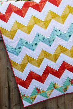 chevron quilt out of half square blocks