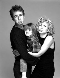 Edward Norton, Courtney Love and daughter