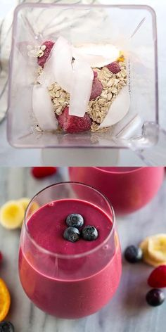 Oat Smoothie, Breakfast Smoothie Recipes, Fruit Smoothie Recipes, Healthy Smoothies, Healthy Drinks, Healthy Snacks, Healthy Cookie Recipes, Cooking Recipes, Fruit Yogurt