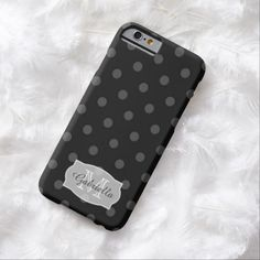 Black PolkaDot: Personalized: iPhone 6 case #iPhone #iPhone6 #Case