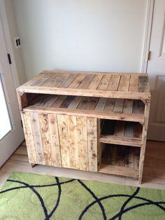 Reclaimed wood media console. $895.00, via Etsy.