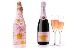 the first champagne my husband and i ever enjoyed together was veuve clicquot ponsardin on our first new year's eve together.  we are big rose' fans thanks to the vineyard where we tied the knot, so what could be better than combining the two? pink veuve.  love.