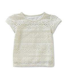 Copper Key 46X Crochet Top #Dillards