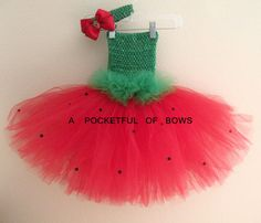 Strawberry Shortcake Tutu Dress and Headband by APocketfulofBows, $36.99. Just bought it! :)