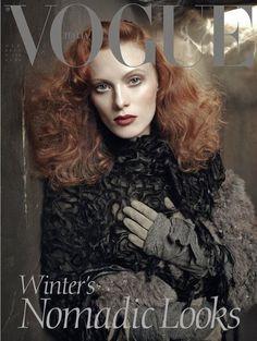Karen Elson by Steven Meisel for Vogue Italia October 2011