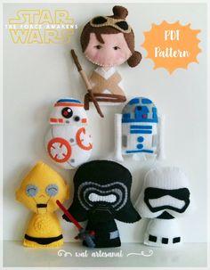 Oi gente chegou a nova apostila!!! Star Wars: O Despertar da Força. 6 personagens (Stormtrooper, BB-8, Rey, C3-PO, Kylo_Ren and R...
