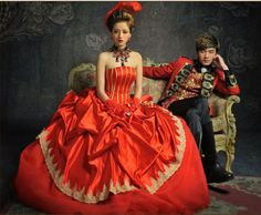 Hot-Red-Wedding-Dresses-Quinceanera-Formal-Prom-Party-Pageant-Court-Ball-Gown