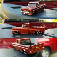 "Alright ladies and gentlemen I'm selling this custom '62 Chevy pick up on ebay. Search for ""custom hot wheels 62 Chevrolet truck scale 1/64""  It has a custom fiery orange paint job black interior and black bed and it's detailed.  #hotwheels #mattel #chevy #1962 #62chevy #custom #fieryorange #orange #164scale #classictruck #chevypickup #pickup by baller_6542"