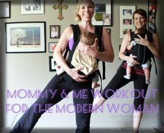 Simple & easy exercises for new moms from celebrity fitness trainer, Laura Mak. I loved these & they work great! My baby thought they were fun too!  www.WifeMomSuperwoman.com