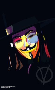 Amazing collection of WPAP (Wedha's Pop Art Portrait) portrait Illustrations, by best WPAP artists and designers. WPAP Art is made using straight lines and V Comme Vendetta, V Pour Vendetta, Hacker Wallpaper, Man Wallpaper, V For Vendetta Wallpapers, Iphone Wallpaper For Guys, Phone Wallpapers, Villainous Cartoon, Pop Art Portraits