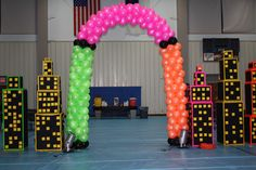 arch in neon colors