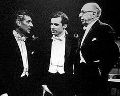 The talent! Leonard Bernstein, Glenn Gould, and Igor Stravinsky - all #SteinwayImmortals
