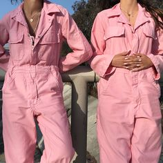 "78f4a4aaa0966 Courtyard La on Instagram: ""Our rose quartz vintage coveralls are now  available! All are one size with two different length options."