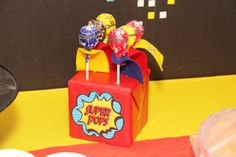 Super pops at a Superhero Party #superhero #party