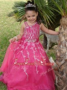 Luxurious-Asymmetrica-Necklinel-Hot-Pink-Little-Girl-Pageant-Dress-with-Beading-and-Appliques-120.jpg (225×300)