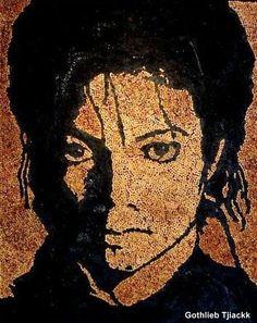 Découvrez les créations insolites de Gothlieb Tjiackk un artiste belge qui réalise des portraits de stars avec des mégots de cigarettes.. Portrait de Mickaël Jackson réalisé avec des mégots de cigarettes..