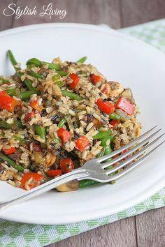 Gemüse-Reispfanne / rice dish with vegetables / vegetarian